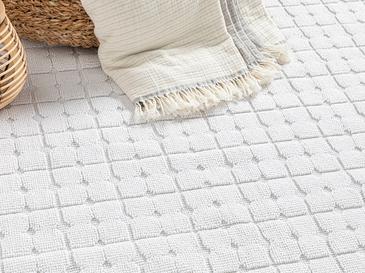English Home Pamuklu Kilim 50x80 Cm Beyaz