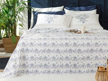 Dream Garden Baskılı Çift Kişilik Pike Takımı 200x220 Cm Mavi
