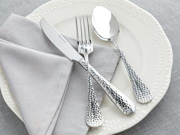 Pinoli Paslanmaz Çelik 18 Parça Yemek Çatal Kaşık Bıçak Takımı Silver