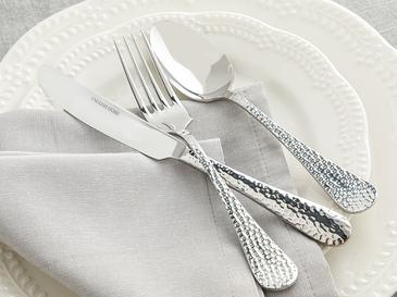 Riba Paslanmaz Çelik 18 Parça Tatlı Çatal Kaşık Bıçak Tk. Silver