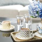 Locus Comb New Bone 2'li Çay Fincanı Takımı 220 Ml Sarı - Mavi