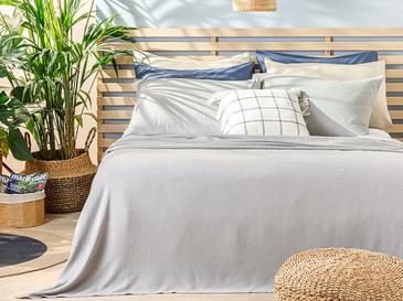 Cool Stripe Soft Touch King Size Pike Seti 220x240 Cm Gri