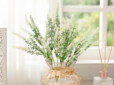 Lavender Tek Dal Yapay Çiçek 36 Cm Beyaz