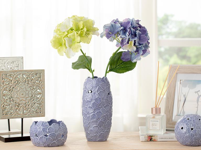 Hortensia Tek Dal Yapay Çiçek 70 Cm Yeşil
