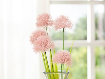 Dandelion Bouquet Tek Dal Yapay Çiçek 46 Cm Pembe