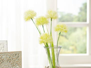 Dandelion Bouquet Tek Dal Yapay Çiçek 46 Cm Beyaz
