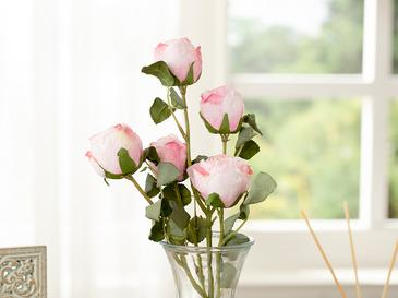 Rose Bouquet Tek Dal Yapay Çiçek 61 Cm Açık Pembe