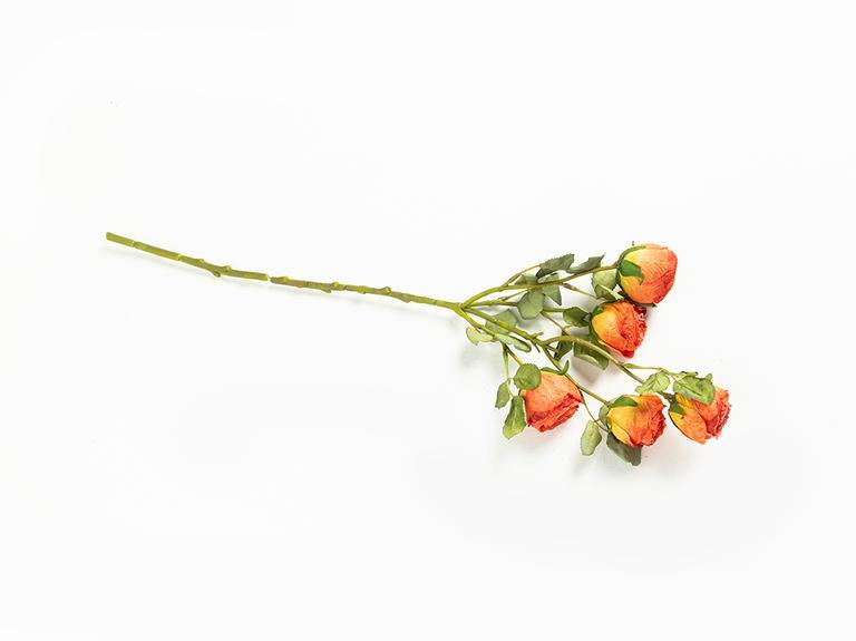 Rose Bouquet Tek Dal Yapay Çiçek 61 Cm Kırmızı