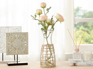 Rose Bouquet Tek Dal Yapay Çiçek 61 Cm Krem