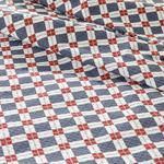 Oxford Baskılı Çift Kişilik Pike 200x220 Cm Lacivert