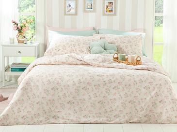 Sweet Rose Pamuklu Çift Kişilik Nevresim Seti 200x220 Cm Pudra