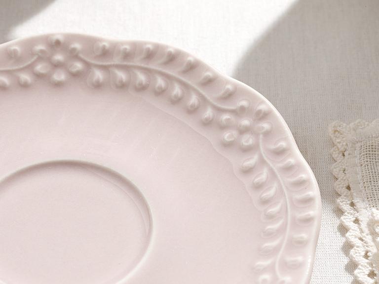 Viyana Porselen 4 Parça Çay Fincan Takımı 180 Ml Açık Krem