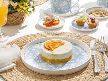 Bloom New Bone Pasta Tabağı 21 Cm Beyaz - Mavi