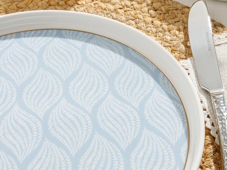 Frezya New Bone Pasta Tabağı 21 Cm Beyaz - Mavi