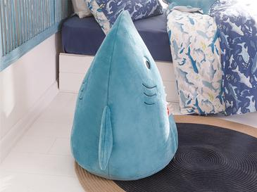 Shark Dekoratif Puf 60x70 Mavi