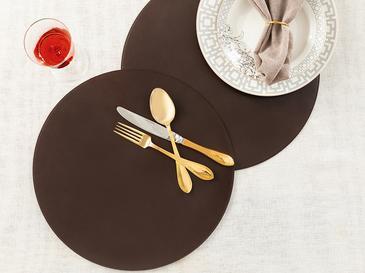 Leather Deri 2'li Amerikan Servis 38 Cm Kahverengi