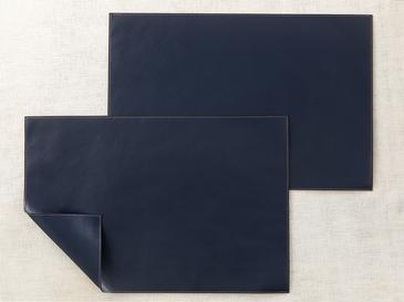 Leather Deri 2'li Amerikan Servis 30x45 cm Lacivert