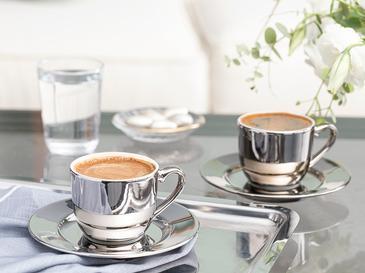 Fora Porselen 2 Kişilik Kahve Fincan Takımı 100 Ml Silver