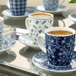 Romana Porselen 6'lı Kahve Fincan Takımı 80 Ml Lacivert