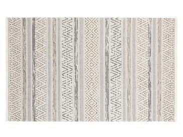 Cotton Modern Dokuma Halı 78x150cm Bej-gri