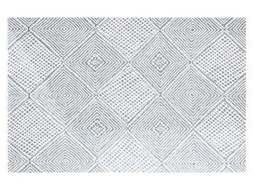 Cotton Geometric Dokuma Halı 116x180cm Lacivert
