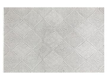 Cotton Geometric Dokuma Halı 78x250cm Gri