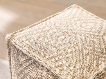 Cotton Diamonds Dokuma Puf 40x40x40cm Turuncu