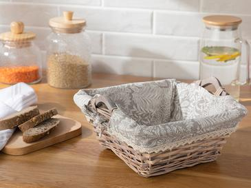 Creative Söğüt Kare Ekmek Sepeti 24x24x10 Cm Bej