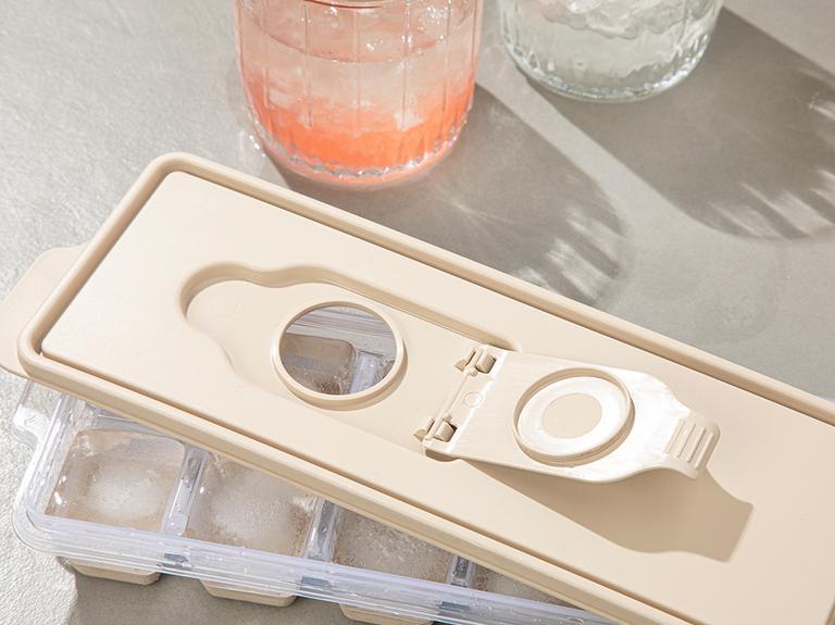 Simply Plastik Kapaklı Buz Kalıbı 8,9x25,3x3,9 Cm Koyu Bej