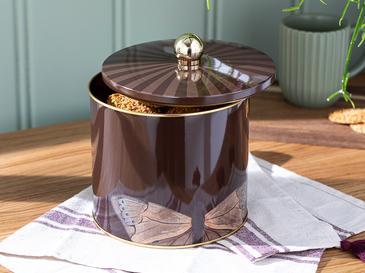 Lifely Metal Saklama Kabı 14x12,5 Cm Kahve