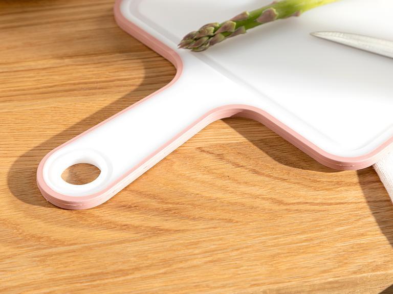Basic Plastik Saplı Kesme Tahtası 35 Cm Koyu Pembe