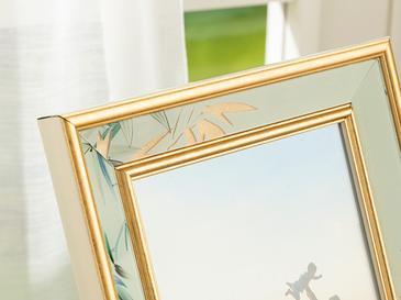 Bamboo Çerçeve 13x18 Cm Krem-altın