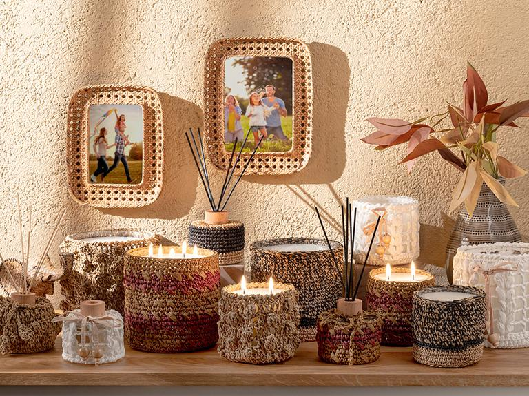 Handmade Cam Kokulu Mum 14x14 Cm Beyaz