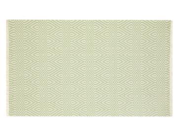 Cotton Diamonds Dokuma Halı 155x230 Cm Yeşil