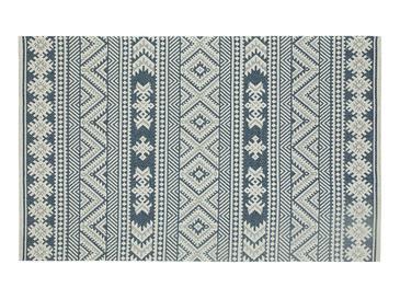 Cotton Ethnic Dokuma Halı 78x250cm Lacivert