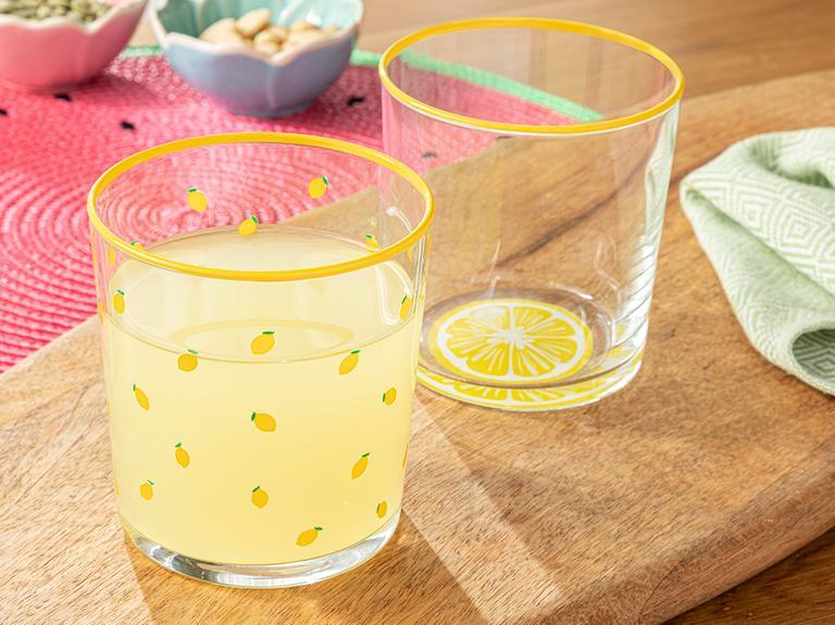 Lemon Cam 2'li Meşrubat Bardağı 380 Ml Sarı