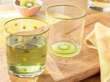 Kiwi Cam 2'li Meşrubat Bardağı 510 Ml Yeşil