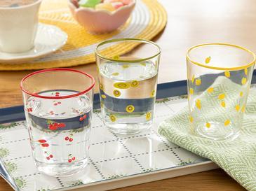 Fruity Cam 6'lı Kahve Yanı Su Bardağı 100 Ml Renkli