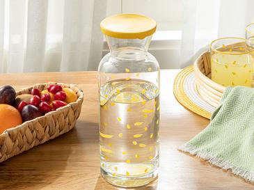 Lemon Cam Kapaklı Sürahi 1260 Ml Sarı
