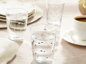 Glass Cam 6'lı Kahve Yanı Su Bardağı 100 Ml Şeffaf