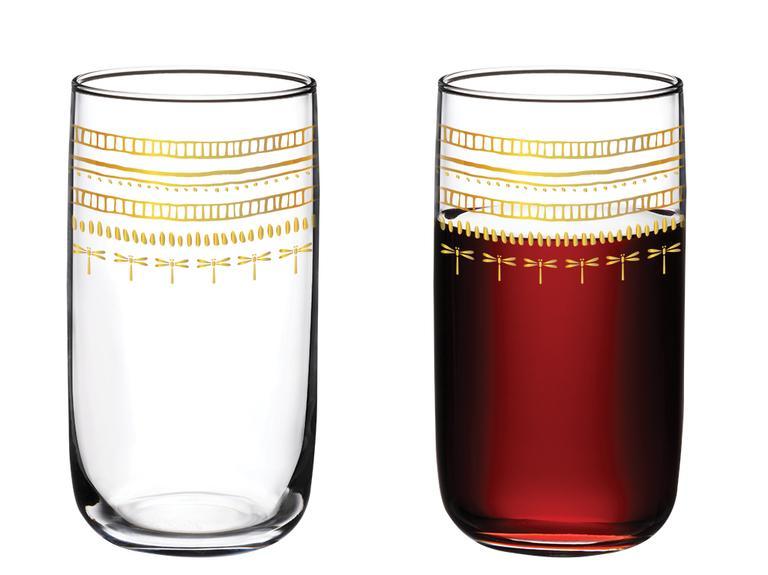 Galia Goldie Cam 4'lü Meşrubat Bardağı 365 Ml Pembe Gold