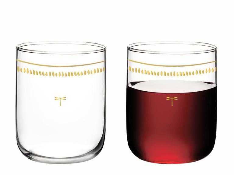 Galia Goldie Cam 4'lü Meşrubat Bardağı 270 Ml Pembe Gold