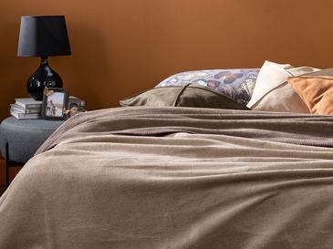 Plain Pamuklu Tek Kişilik Battaniye 150x200 Cm Bej-kahve