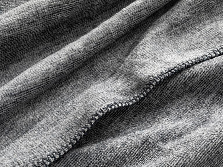 Melange Pamuklu Tek Kişilik Battaniye 150x200 Cm Antrasit