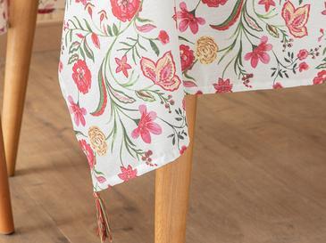 Sweet Flowers Polycotton Püsküllü Masa Örtüsü 150x220 Cm Renkli