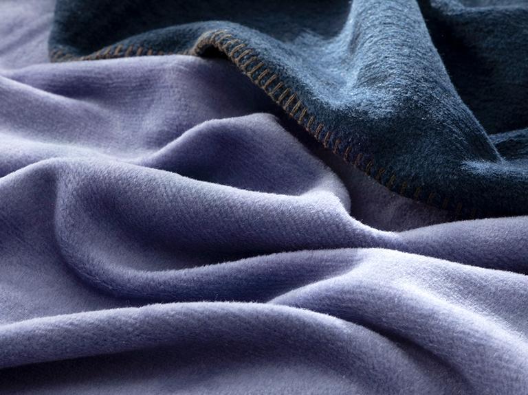 Plain Pamuklu Çift Kişilik Battaniye 200x220 Cm Lacivert- Mavi