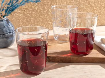 Gelato Cam 3'lü Meşrubat Bardağı 250 Ml Yeşil - Mavi - Kiremit
