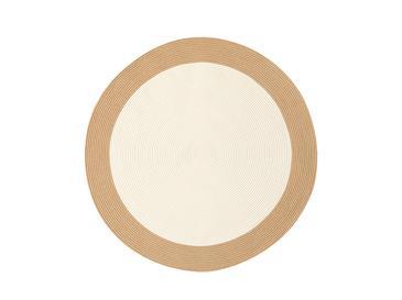 Round Jüt Kilim 90 Cm Beyaz