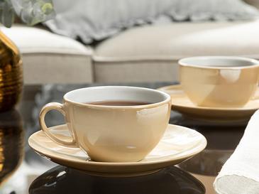 Dela Porselen 2 Kişilik Çay Fincanı Takımı 220 Ml Sütlü Kahve