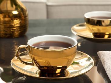 Dela Porselen 2'li Çay Fincanı Takımı 220 Ml Gold